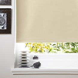 Colours Kona Corded Cream Roller Blind (L)160cm (W)180cm