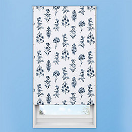 Colours Azaria Corded Blue Blackout Roller Blind (L)160cm