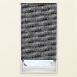 Colours Adelpha Corded Black Blackout Roller Blind (L)160