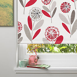 Colours Annelise Corded Red Blackout Roller Blind (L)160