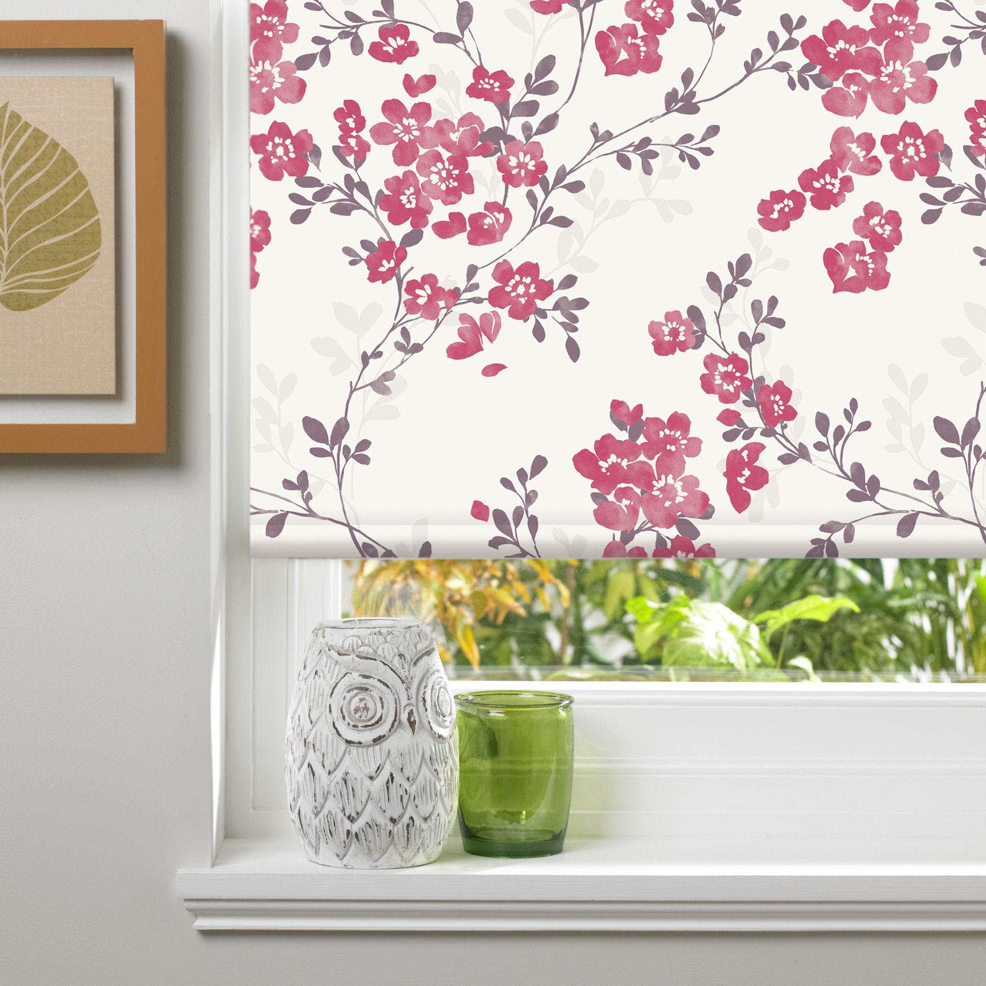 colours audrie corded pink blackout roller blind l 160 cm. Black Bedroom Furniture Sets. Home Design Ideas