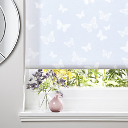 Colours Alessia Corded White Roller Blind (L)160 cm