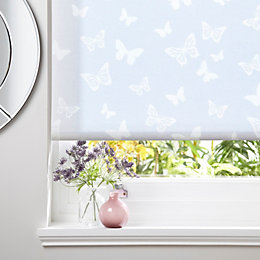 Colours Alessia Corded White Roller Blind (L)160cm (W)60cm