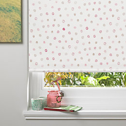 Colours Alisse Corded Pink Blackout Roller Blind (L)160cm