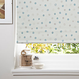 Colours Alisse Corded Blue Blackout Roller Blind (L)160