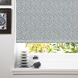 colours seta corded grey white roller blind l 160cm w. Black Bedroom Furniture Sets. Home Design Ideas