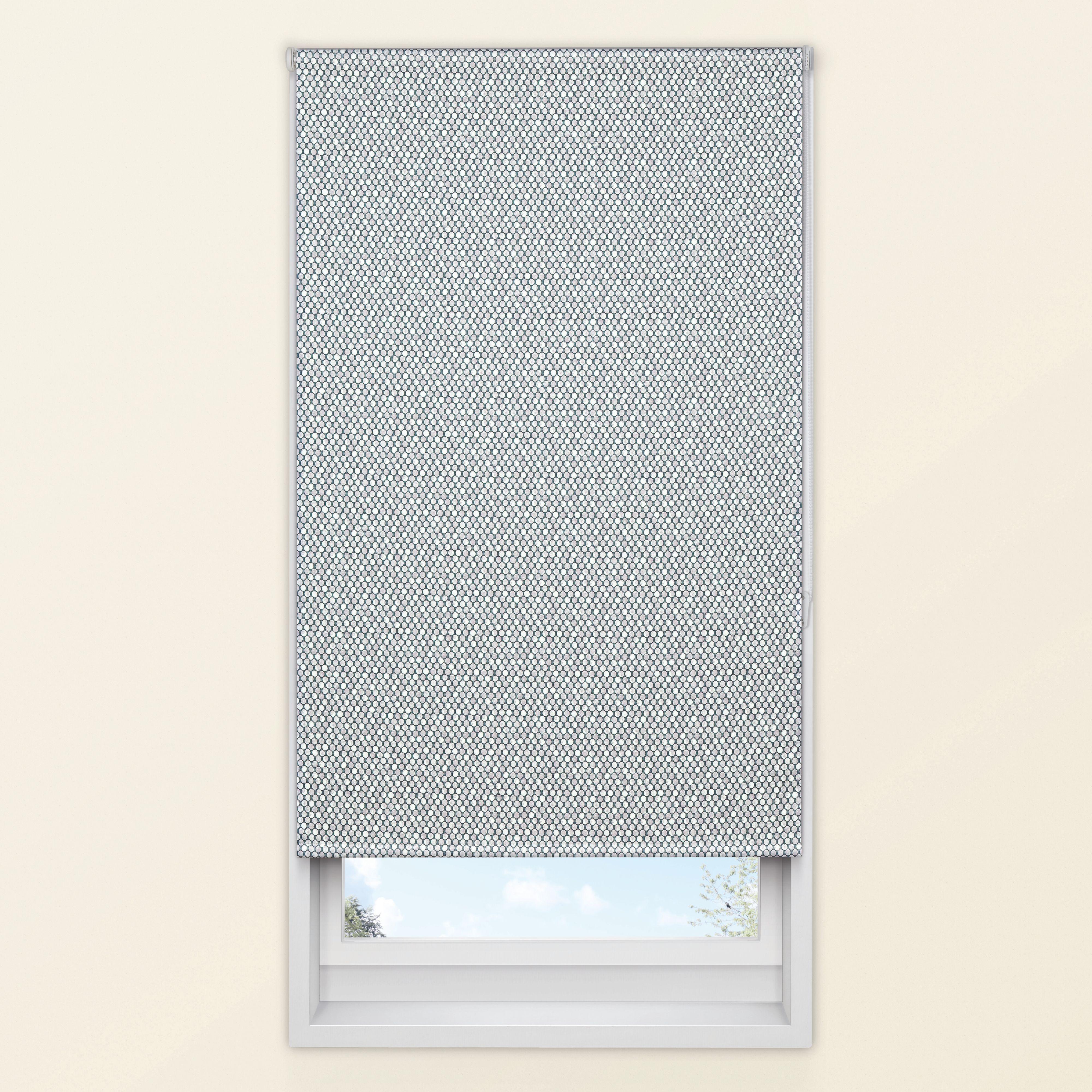 Colours Belarmina Corded Grey Blackout Roller Blind (l)160 Cm (w)90 Cm