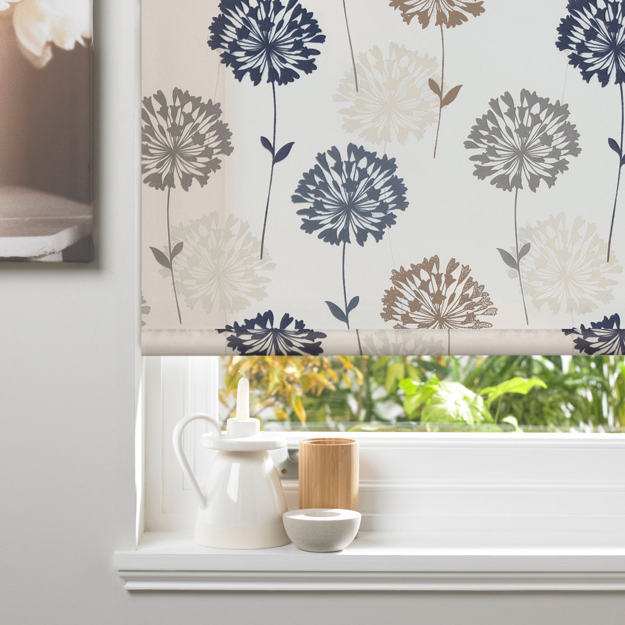Colours Amberlee Corded Cream Roller Blind (L)160 Cm (W