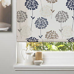 Colours Amberlee Corded Cream Roller Blind (L)160 cm