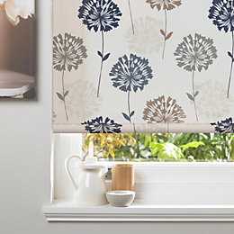 Colours Amberlee Corded Cream Roller Blind (L)160cm (W)90cm