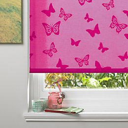 Colours Alessia Corded Pink Roller Blind (L)160cm (W)120cm