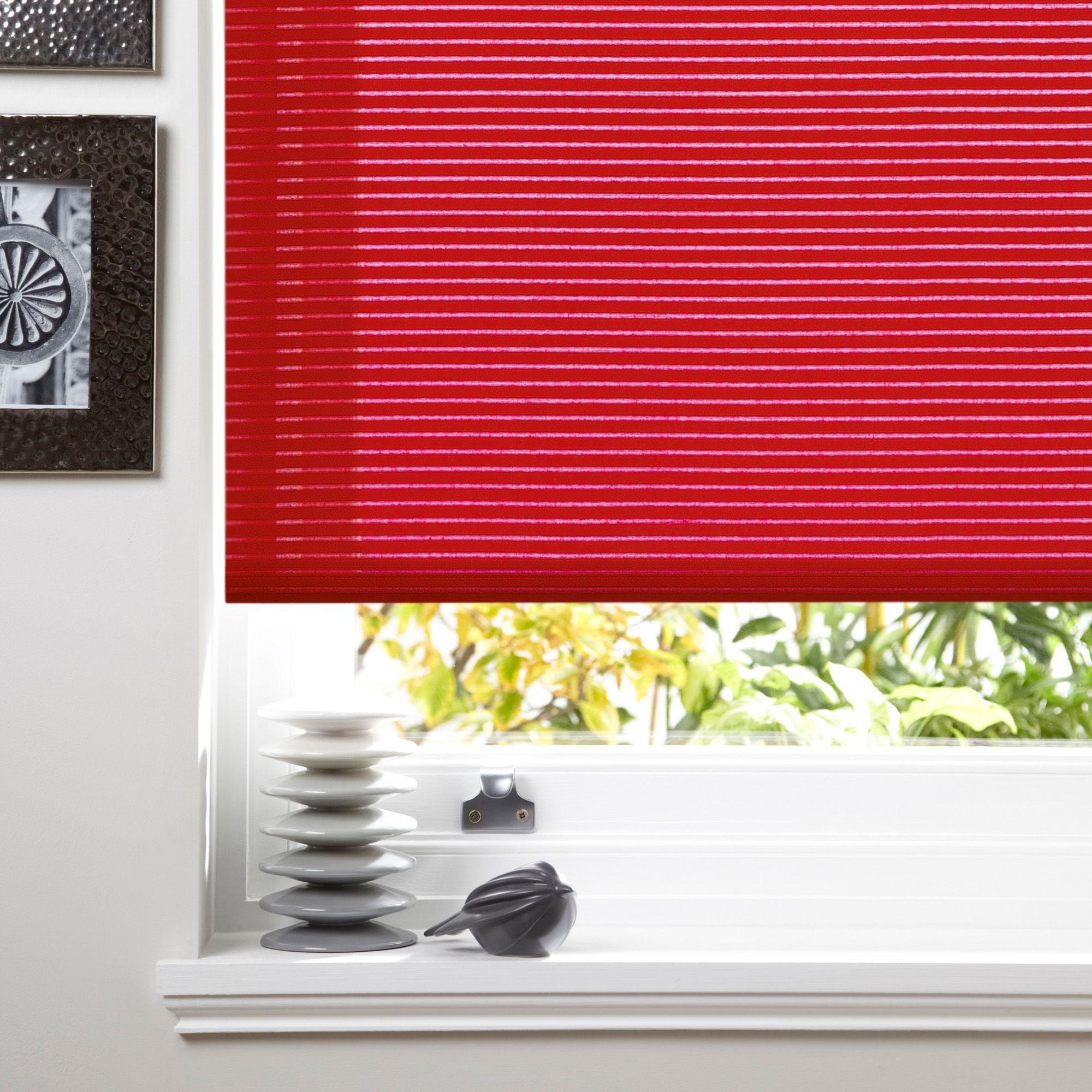 Colours Alexsa Corded Red Roller Blind (l)160cm (w)180cm