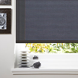 Colours Alexsa Corded Grey Roller Blind (L)160cm (W)120cm