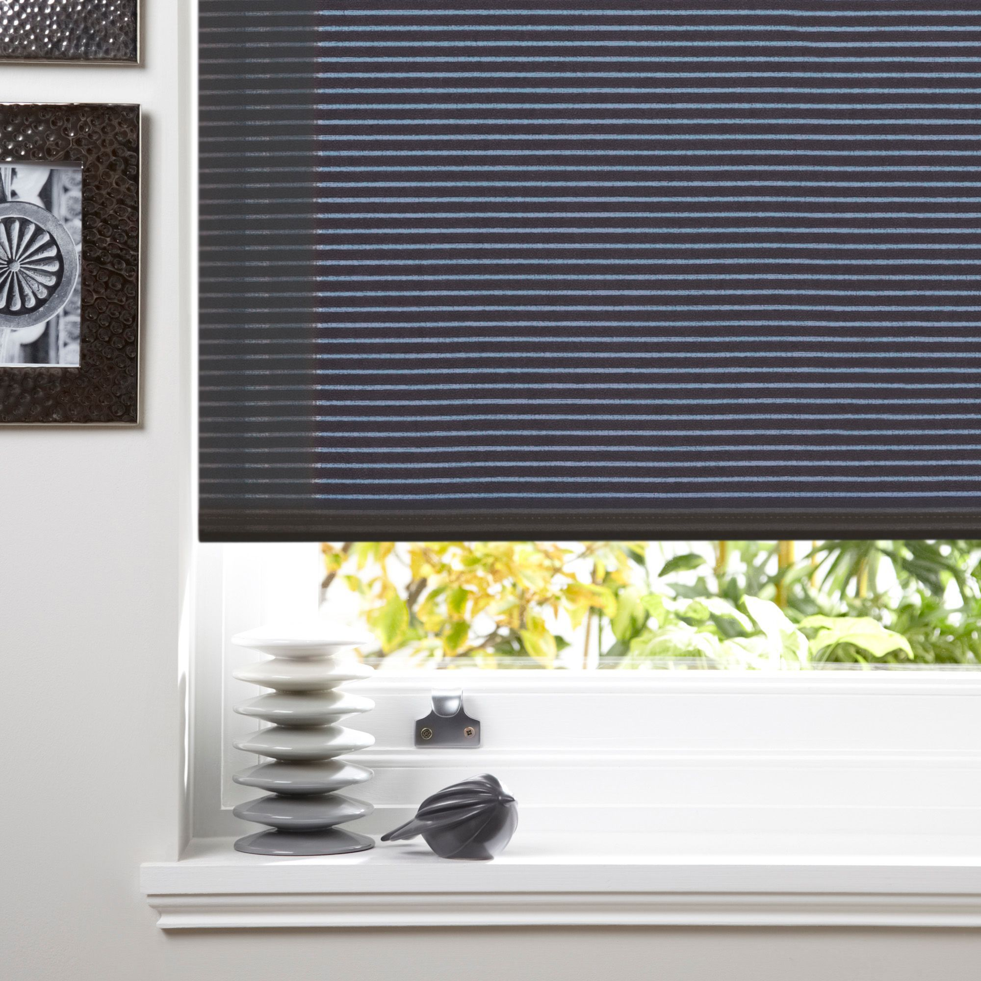 Colours Alexsa Corded Grey Roller Blind (l)160cm (w)180cm