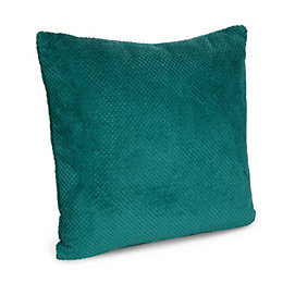 Analia Coral Fleece Green Cushion
