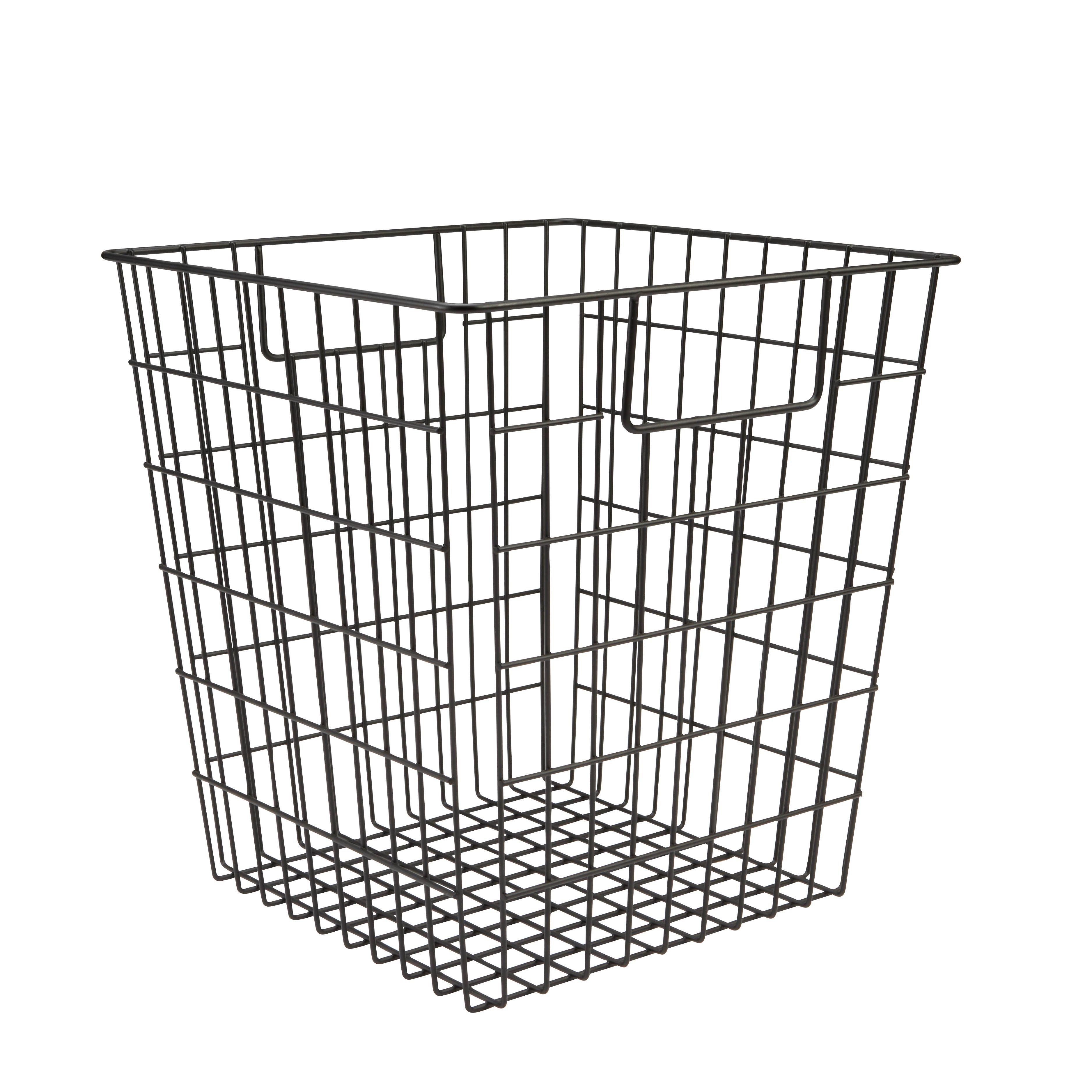 Form Mixxit Black Wire Storage Cube Basket (w)310mm