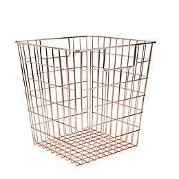 Form Copper Wire Storage Cube Basket (W)310mm