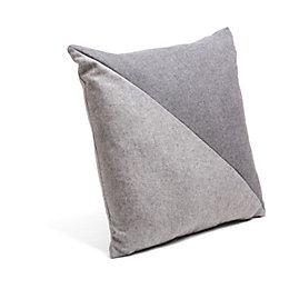 Leah Diagonal Grey Cushion