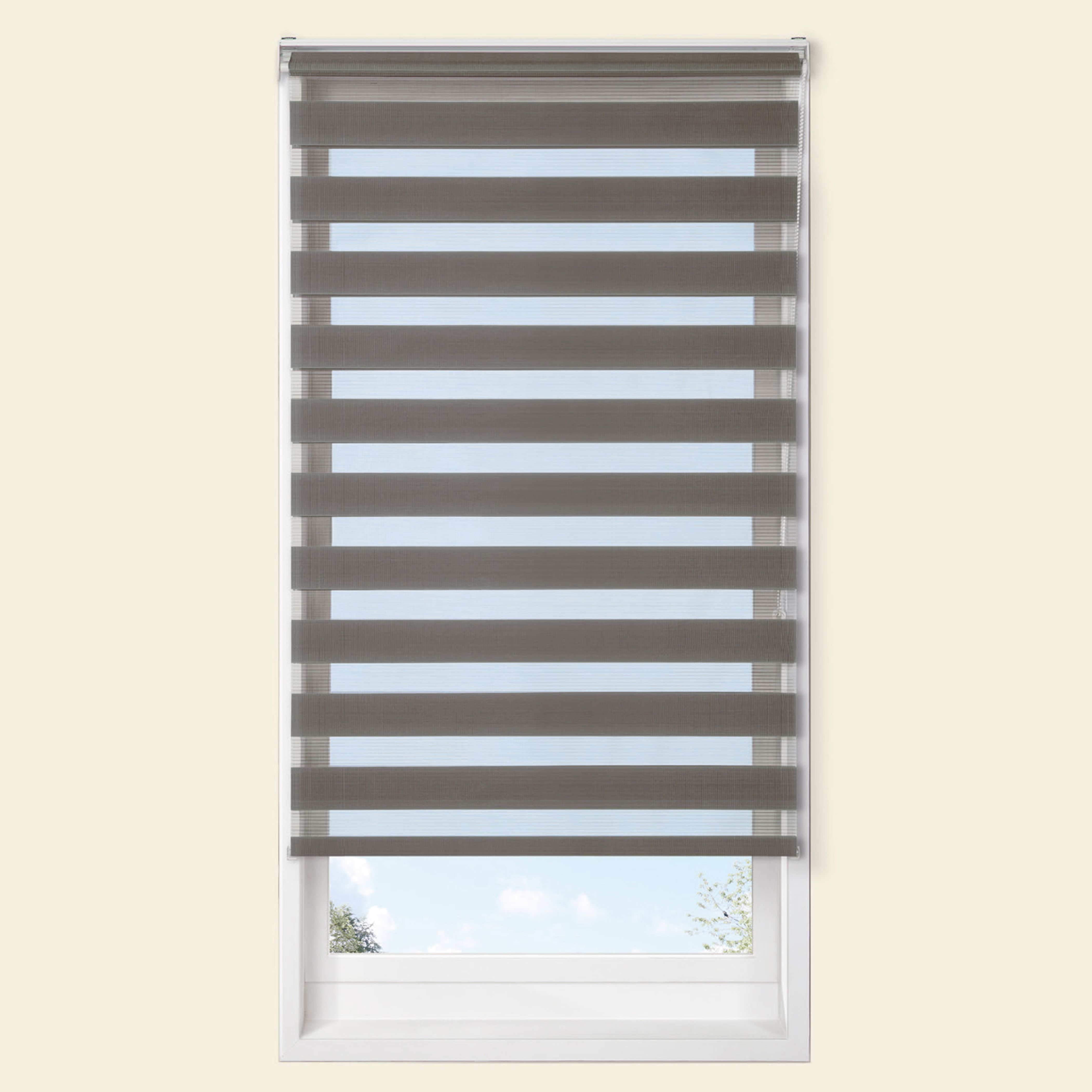 Colours Raya Day & Night Corded Grey Roller Blind (l)160 Cm (w)60 Cm