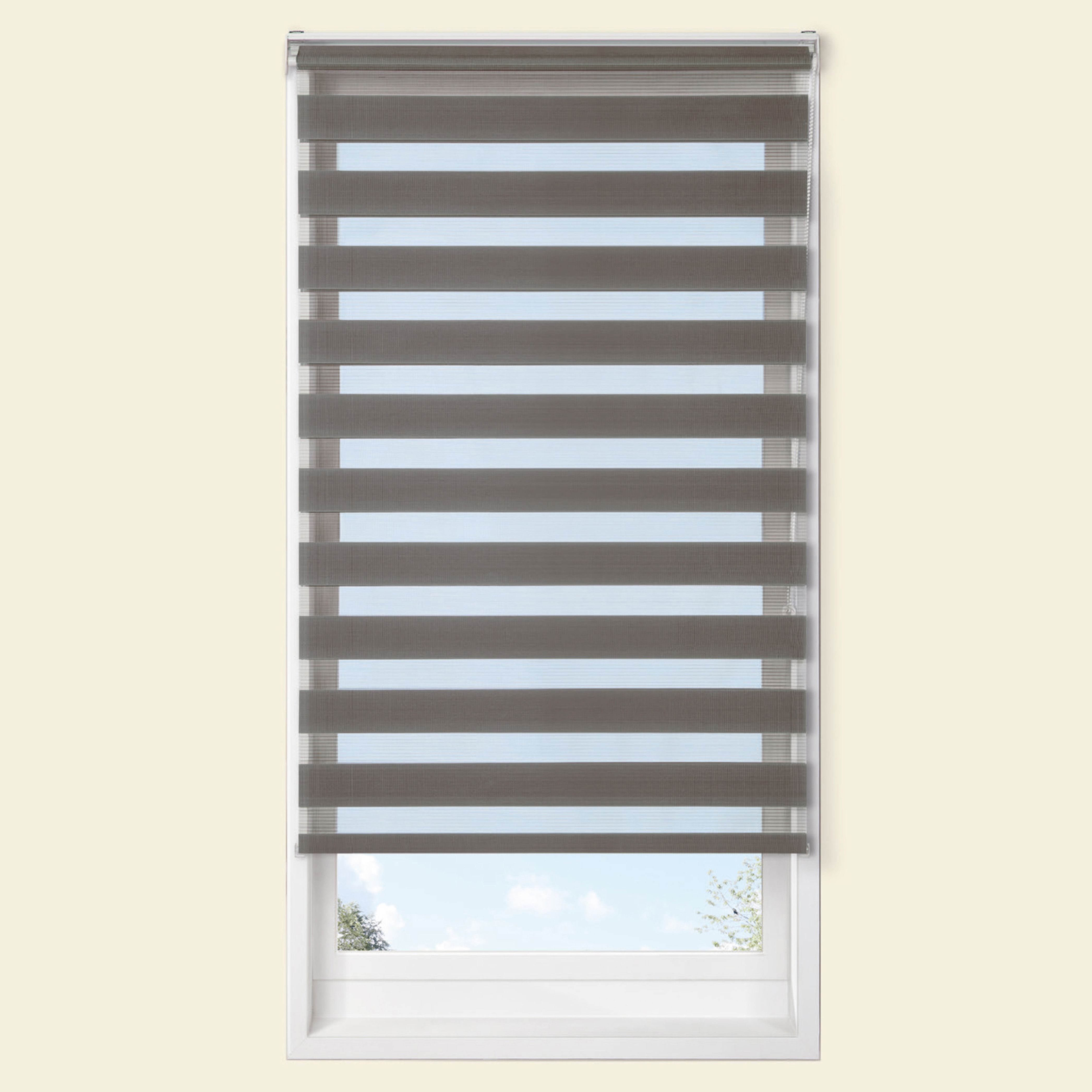 Colours Raya Day & Night Corded Grey Roller Blind (l)160 Cm (w)120 Cm
