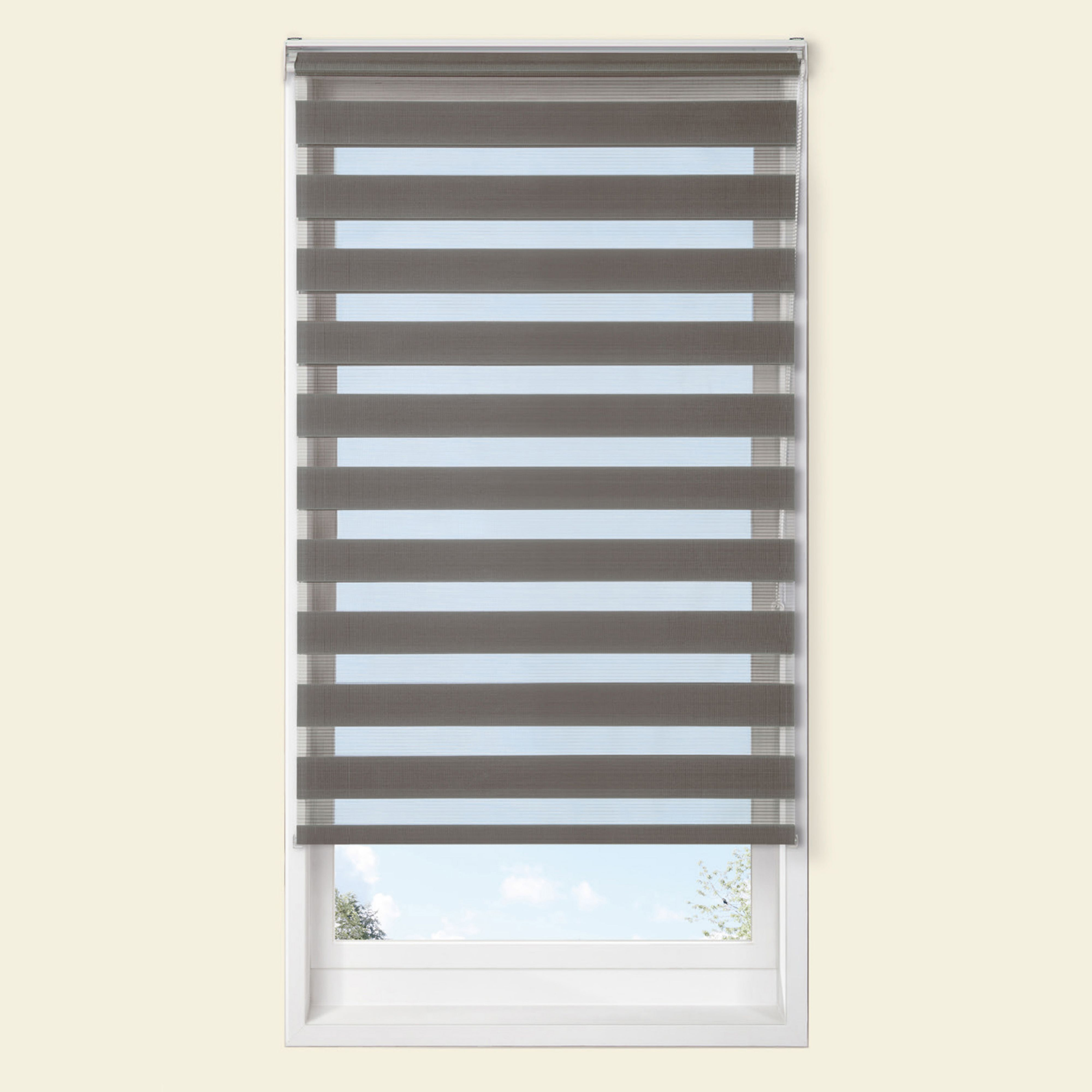 Colours Raya Day & Night Corded Grey Roller Blind (l)160 Cm (w)180 Cm