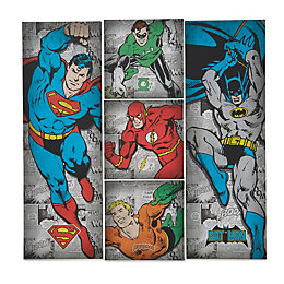 Marvel Retro Comic Book Multicolour Canvas Pack of