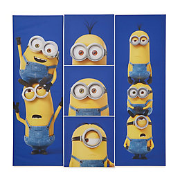 Minions Blue Canvas Pack of 5