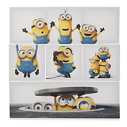 Minions White Canvas Pack of 5