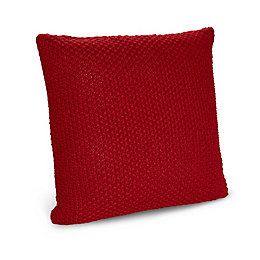 Nara Knitted Red Cushion