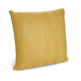 Citrine Herringbone Knit Wheat Cushion