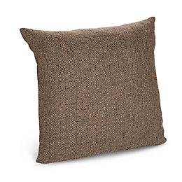 Tabatha Herringbone Brown Cushion