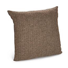 Tabatha Herringbone Brown Cushion