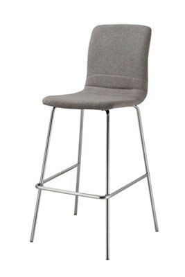 Taunton chrome effect bar stool h1092mm w510mm