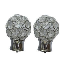 Colours Flowerdon Chrome Effect Ball Finial (L)75mm (Dia)28mm,