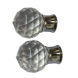 Colours Flete Chrome Effect Ball Finial (L)75mm (Dia)28mm,