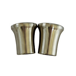 Stainless Steel Effect Metal Curtain Finial (Dia)28mm, Pack