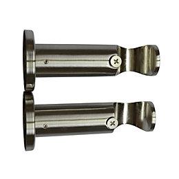 Colours Chrome Effect Cylinder Bracket (L)60mm (Dia)28mm, Set