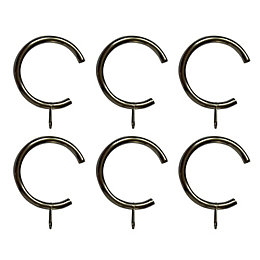 Stainless Steel Effect Metal C-Shaped Curtain Ring (Dia)28mm,