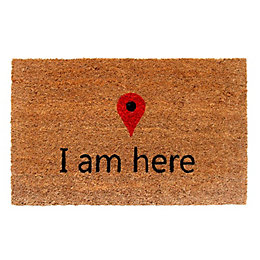 Colours Meeka Multicolour I Am Here Coir Doormat