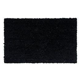 Diall Black Plain Coir Doormat (L)75cm (W)45cm
