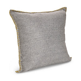Kirie Herringbone Blanket Stitch Dark Grey Cushion