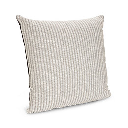 Liliana Woven Striped Grey Cushion