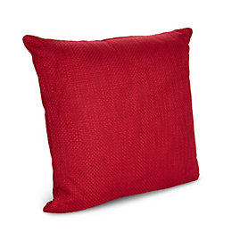 Neora Woven Red Cushion