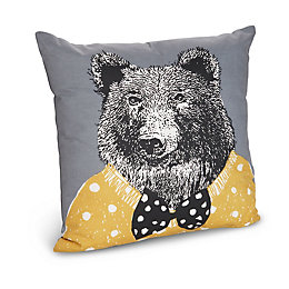 Grizzly Bear Grey Cushion
