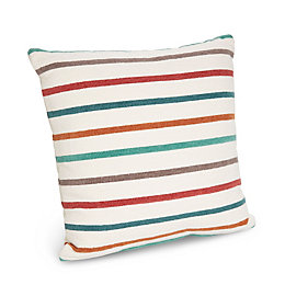 Sanso Striped Red, Blue & Green Cushion