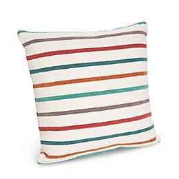 Sanso Striped Red, Blue & Green Cushion