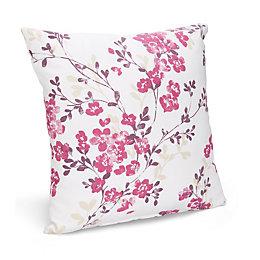 Deysi Floral Cream & Pink Cushion