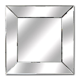 Colours Mirrored Unframed Square Mirror (H)50mm (W) 550mm