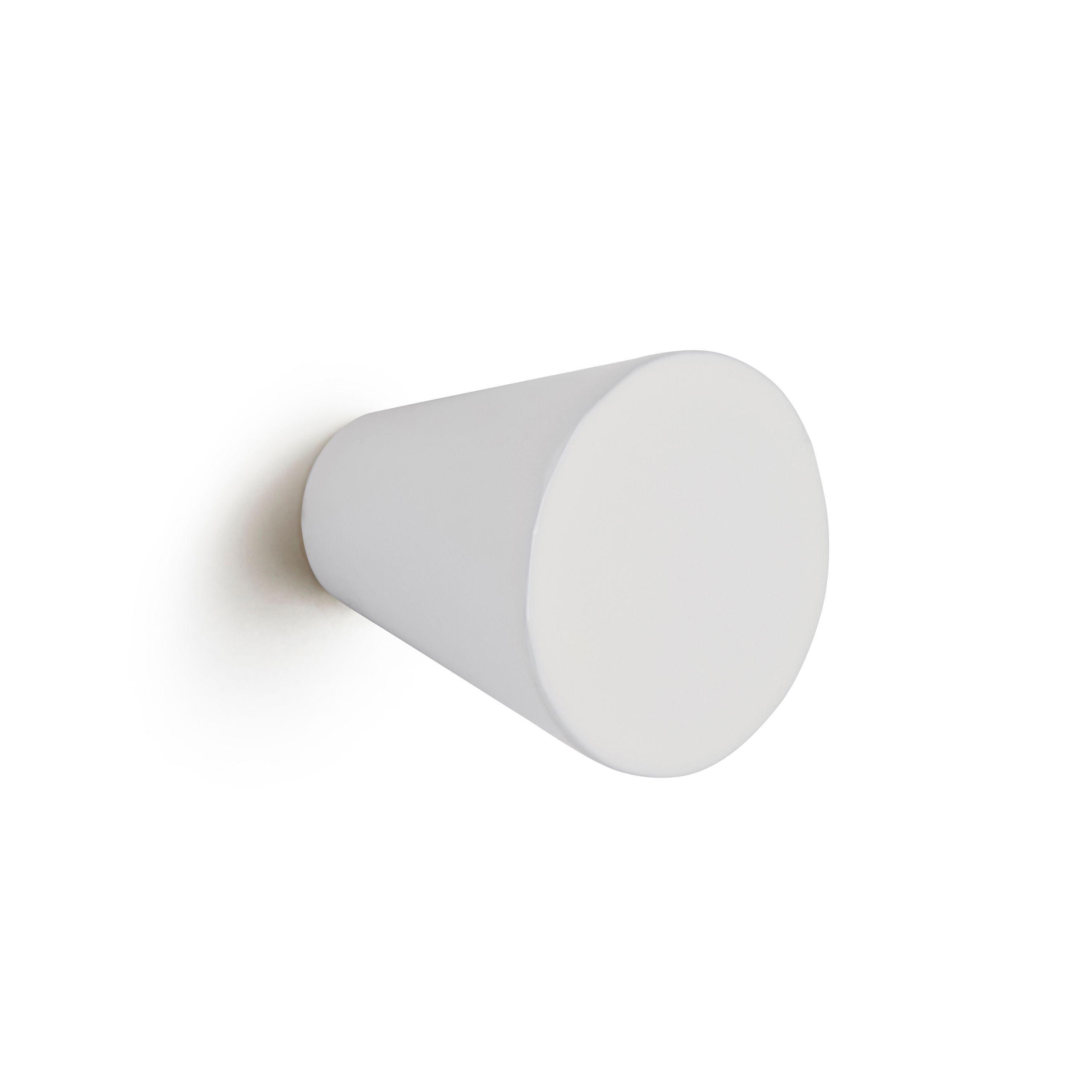 Q >> B&Q White Cone Bedroom Knob Cabinet Handle | Departments | DIY at B&Q