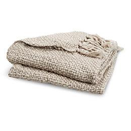 Jalsper Grey Plain Knit Throw